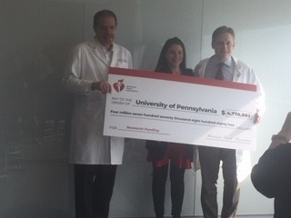 Photo of American Heart Association Check Presentation