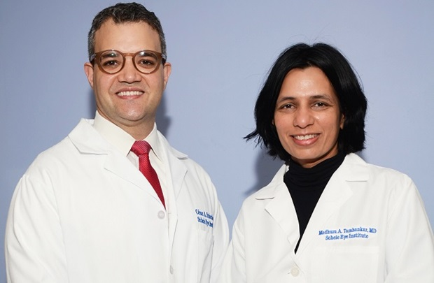 Dr. Cesar Briceno and Madhura Tamhankar
