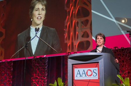 Dr. Weber speaking at AAOS as newly appointed president