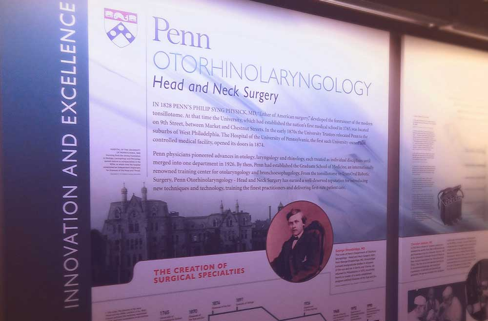 History of the department of otorhinolaryngology