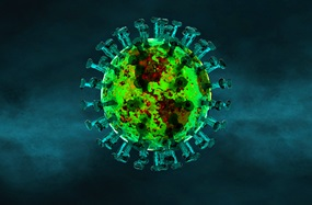 The world depicted as a coronavirus