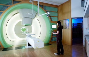 proton therapy machine and technician