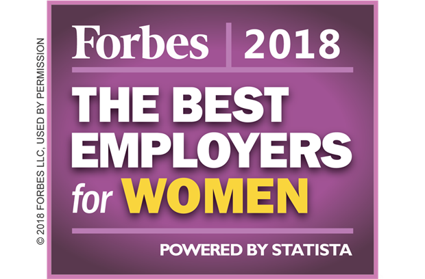 Forbes America's Best Employers for Women Badge