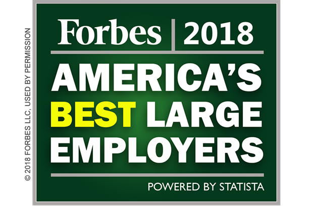 Forbes America's Best Large Employers Badge