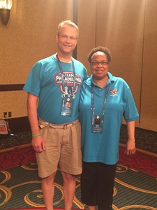 Bill Soloway and Janet Dennis at the Transplant Games of America