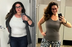 Gillian Snyder, before and after bariatric surgery