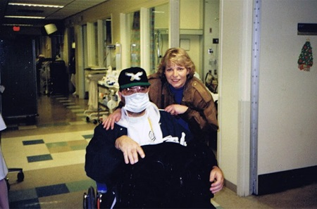 Mike's Before Surgery photo, in wheelchair