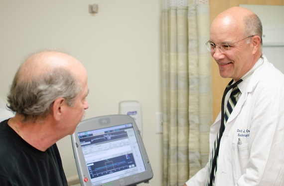 Penn Cardiac Electrophysiologist with patient
