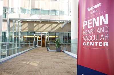 Entrance to Penn Heart and Vascular Center at Perelman Center for Advanced Medicine