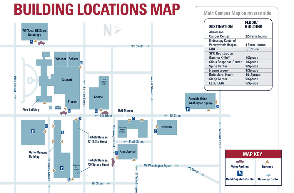 Campus Map of Pennsylvania Hospital – Penn Medicine
