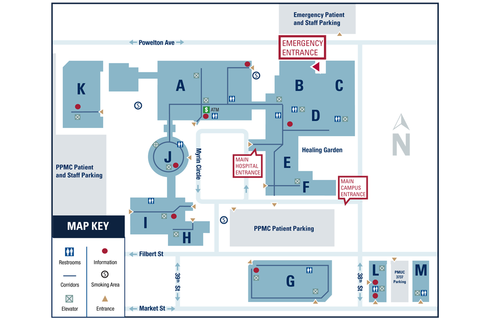 Penn Presbyterian Medical Center campus map