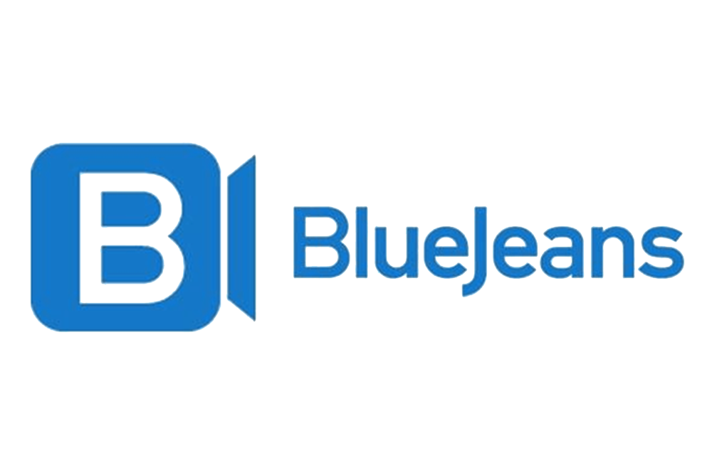 Logo for Bluejeans video meeting software