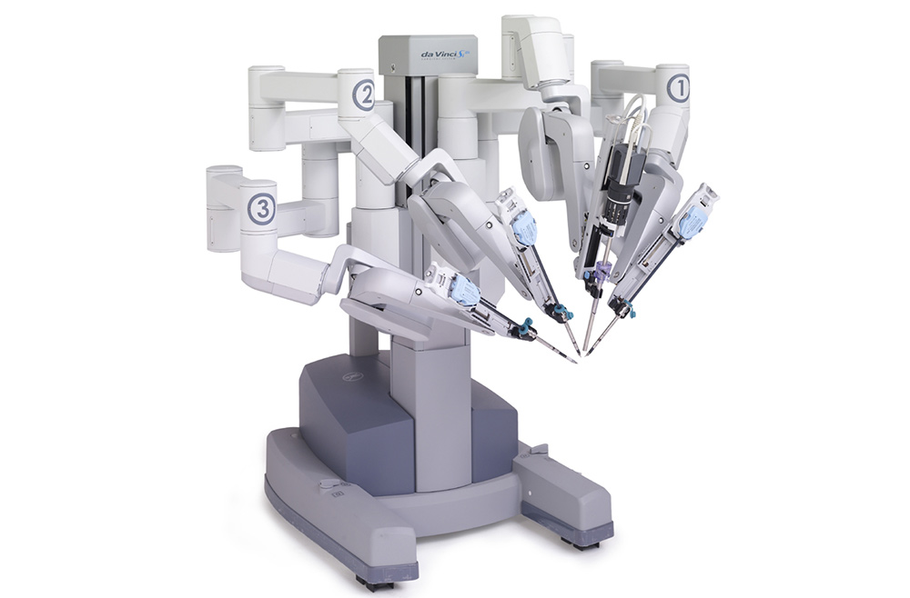 Photograph of the daVinci surgical robot