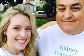 Live Kidney Donor Rochelle O'Herrick and her father