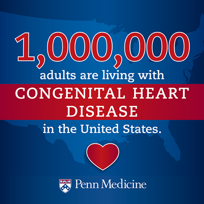 1,000,000 adults are living with CHD in the United States