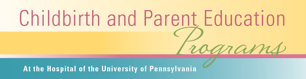 Childbirth and parenting classes HUP banner