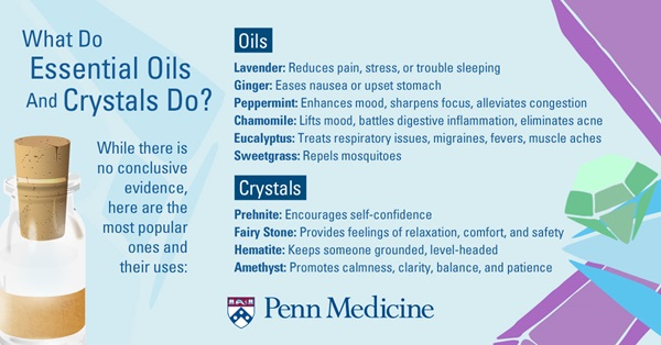 Are There Health Benefits To Essential Oils And Healing Crystals