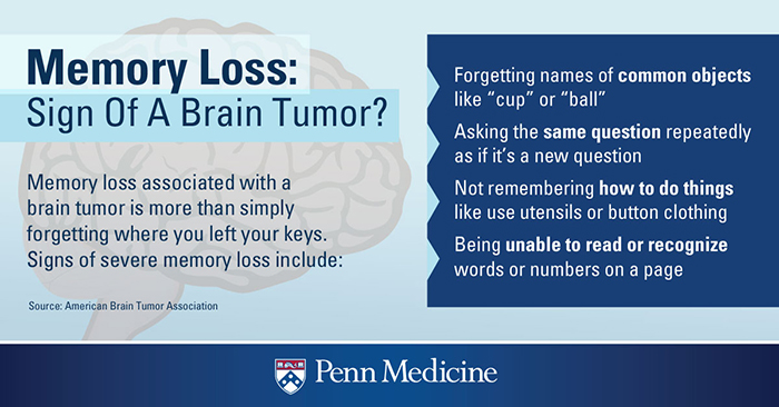 signs of a brain tumor