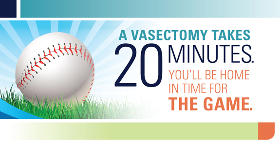 A vasectomy takes 20 minutes