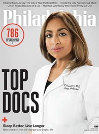 Cover image of Philadelphia Magazine showing a doctor