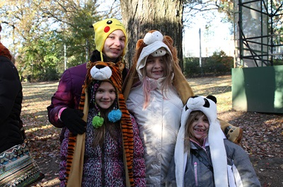 Children dressed in animal costumes