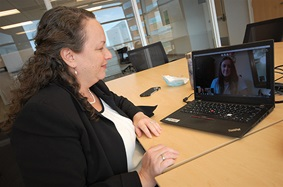 Dr. Dina Jacobs and her colleagues seamlessly transitioned to a virtual MS platform.